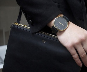 black, fashion, and watch image