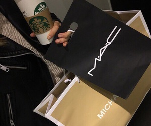 mac, shopping, and starbucks image