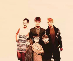 harry potter, rupert grint, and emma watson image