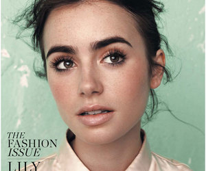 lily collins, magazine, and eyebrows image