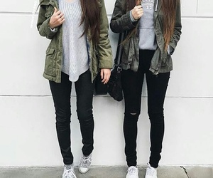 fashion, outfit, and friends image