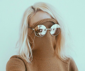 blond hair, girl, and cool image
