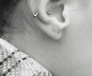 piercing, rook, and snug image