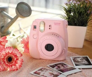 camera, memories, and flowers image