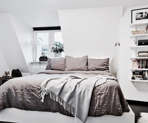 bed, interior, and room image