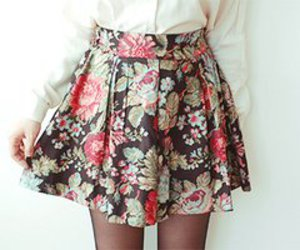 skirt, fashion, and floral image
