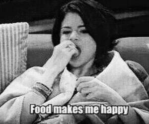 food, selena gomez, and happy image