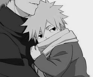 anime, naruto, and black and white image