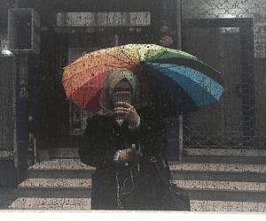 colorful, peace, and rain image