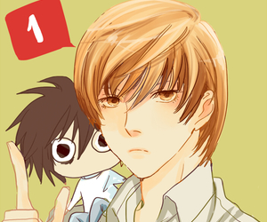 death note, lxlight, and l x light image