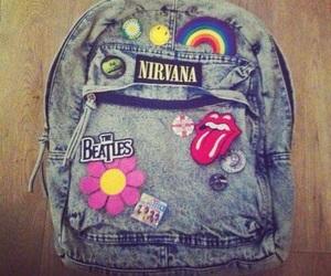 nirvana, the beatles, and bag image