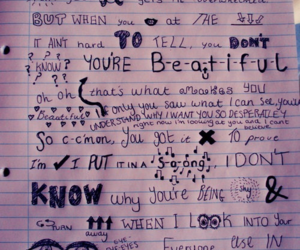 one direction, what makes you beautiful, and Lyrics image