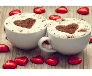 chocolate, coffee, and heart image