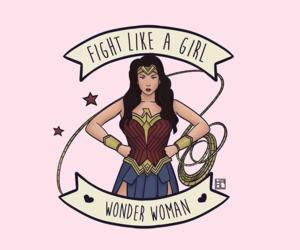wonder woman, feminism, and girl power image