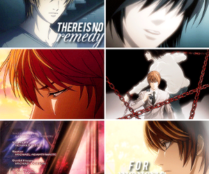 death note, l lawliet, and lxlight image