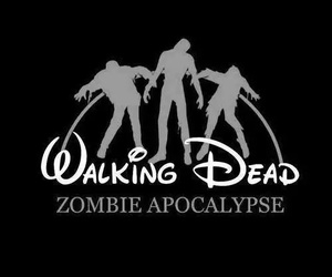 zombie, the walking dead, and disney image