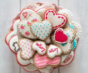 Cookies, hearts, and sweet image