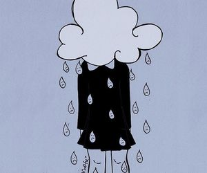 valfre, drawing, and rain image