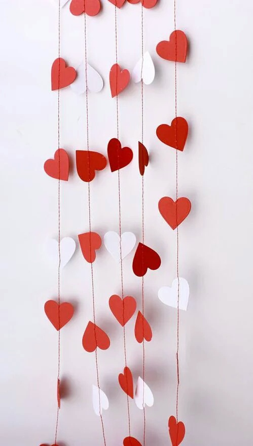 hearts, heart, and red image