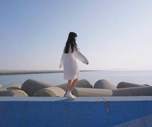 girl, sea, and asian image