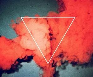 smoke, pink, and red image
