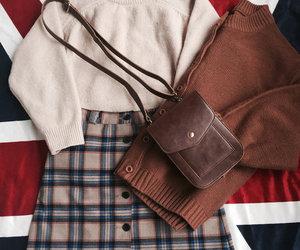 autumn, bag, and british image