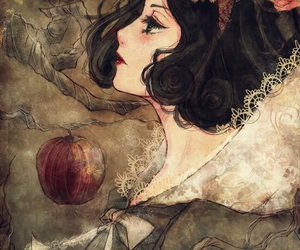snow white and red apple image