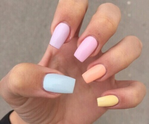 nails, pastel, and beauty image