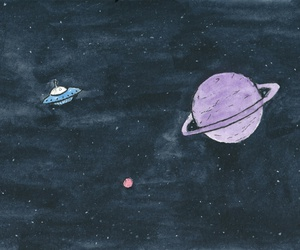 space, planet, and galaxy image