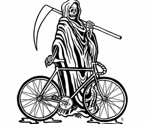 grim reaper, illustration, and tattoo image