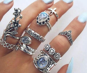 rings, nails, and blue image