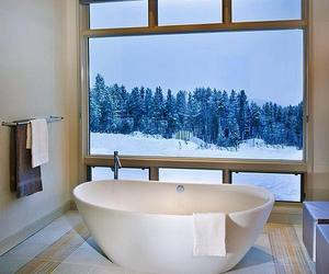 home, winter, and bathroom image