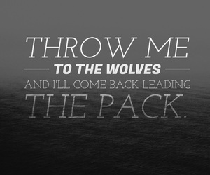 pack, quote, and wolf image