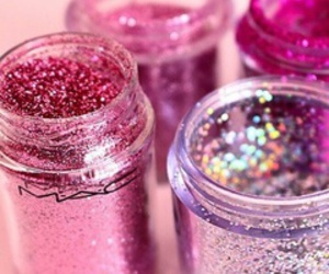 girl, pink, and glitter image