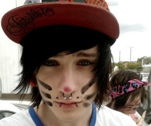 boy, piercing, and emo image