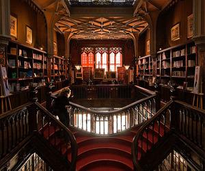 bookstore, staircase, and livraria lello image