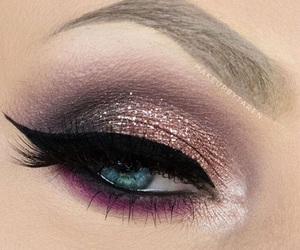 beauty, mascara, and eye makeup image