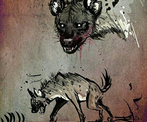 art and hyena image