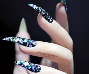 beauty, glitter, and nail image