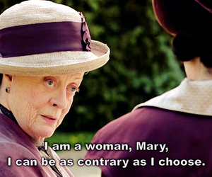woman, downton abbey, and maggie smith image