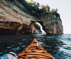 travel, blue, and orange image