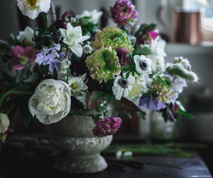 custard, floral arrangement, and flowers image