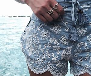 blue, fashion, and beach image