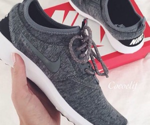 grey, nike, and sneakers image