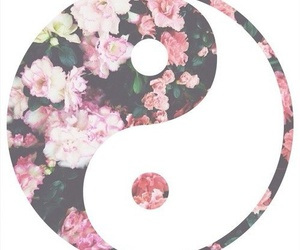 flowers, harmony, and yin and yang image