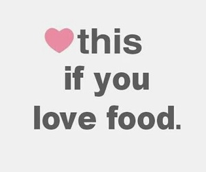 food, heart, and love image