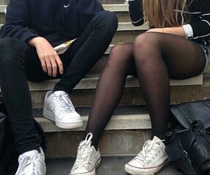 boy, converse, and girl image
