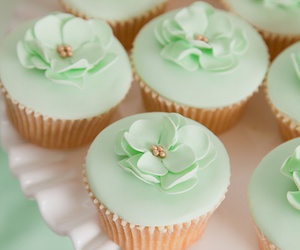 cupcake, food, and mint image
