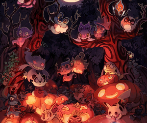 pokemon, anime, and Halloween image