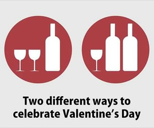 funny, Valentine's Day, and wine image